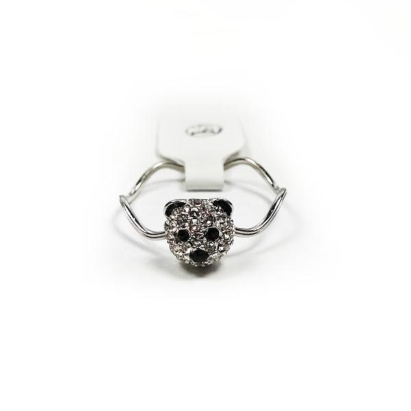 fashion jewelry 18k white gold plated panda ring fr124