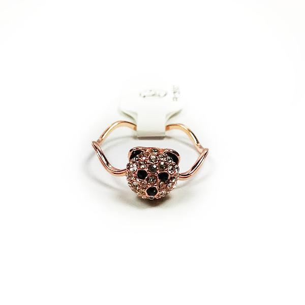 fashion jewelry 18k gold plated panda ring fr125